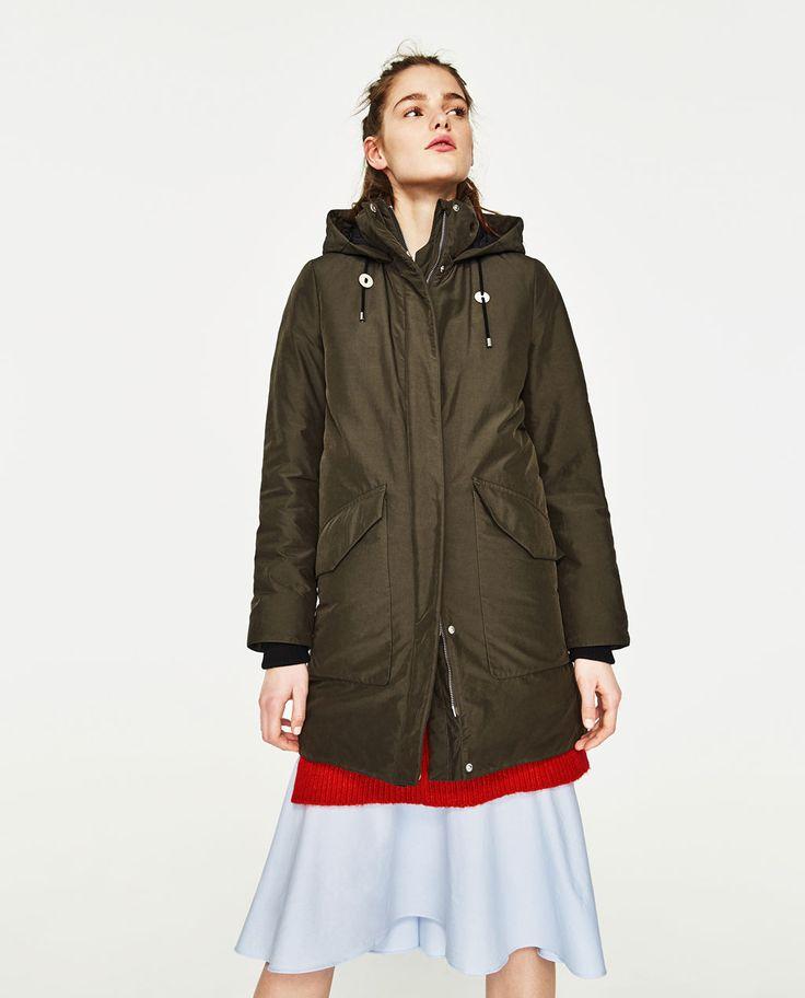 Image 1 of PARKA STYLE COAT from Zara