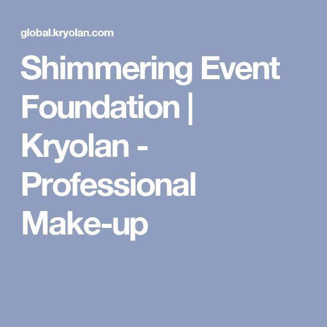 Shimmering Event Foundation | Kryolan - Professional Make-up