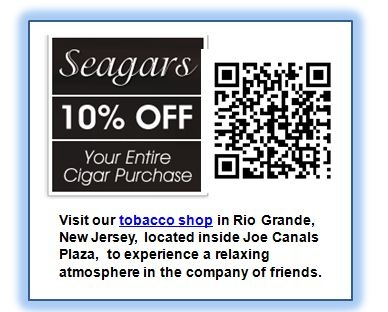 32 best cape may mobile qr coupon codes images on pinterest coupon seagars qr coupon cape may nj save your entire purchase visit our tobacco shop in rio grande nj located inside joe canals plaze to experience a relaxing fandeluxe Image collections