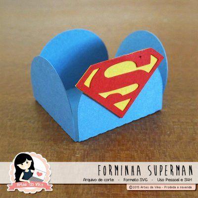 Arquivo de Corte Forminha Superman by Vika Matos