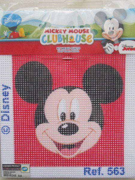 Disegni per ricamo - Kit Ricamo a Mezzo Punto Disney Topolino - un prodotto unico di raffasupplies su DaWanda