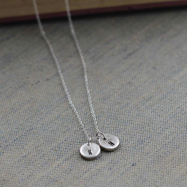 A beautiful personalised Double Initial Sterling Silver Necklace.