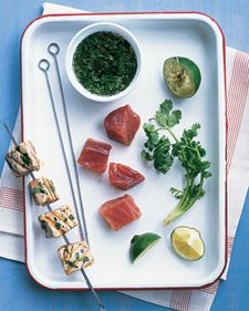 Grilled Tuna Skewers | Recipe | Grilled Tuna, Skewers and Limes