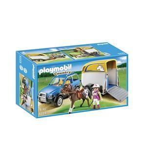 Playmobil  5223  Voiture avec remorque et cheval