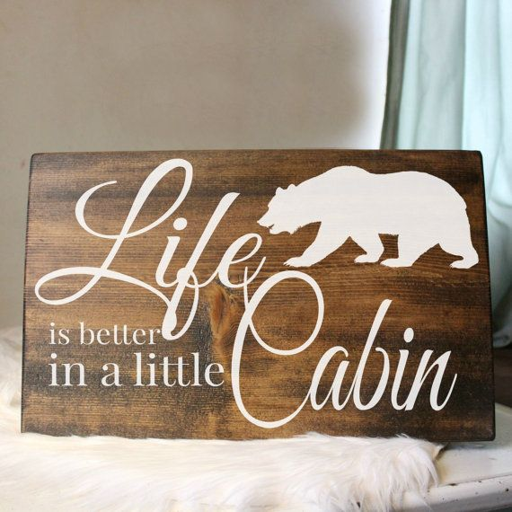 Rustic Cabin Wood Sign Rustic Cabin Home Decor by PalateForPallets