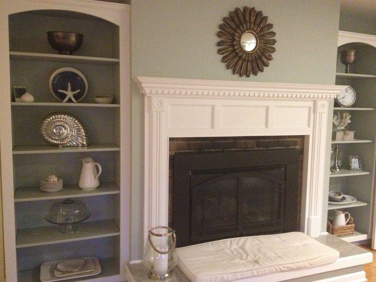 Built In Bookshelves Around Fireplace Bookcase Storage
