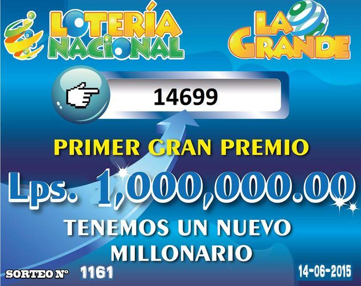 Resultados sorteo Loteria La Grande del domingo 14 de Junio 2015