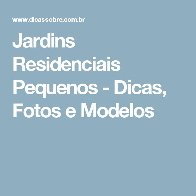 Jardins Residenciais Pequenos E Simples Pictures to pin on Pinterest