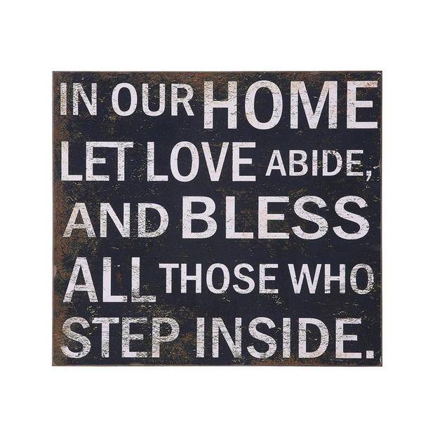 Let Love Inside Message Plaque//