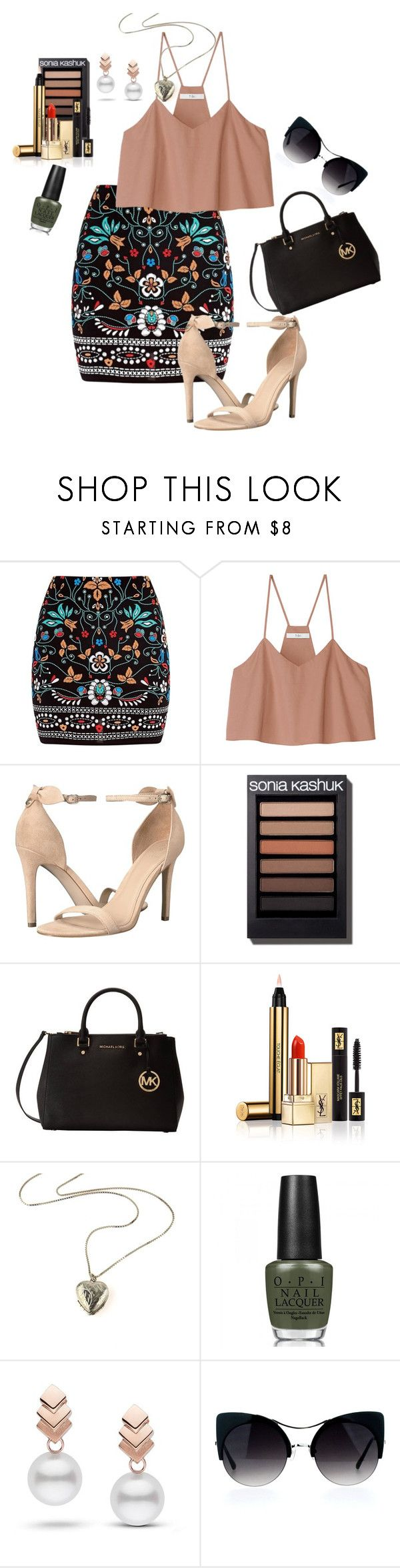 """Floral"" by moge-tan ❤ liked on Polyvore featuring Marni, TIBI, GUESS, Michael Kors, Yves Saint Laurent, OPI and Escalier"