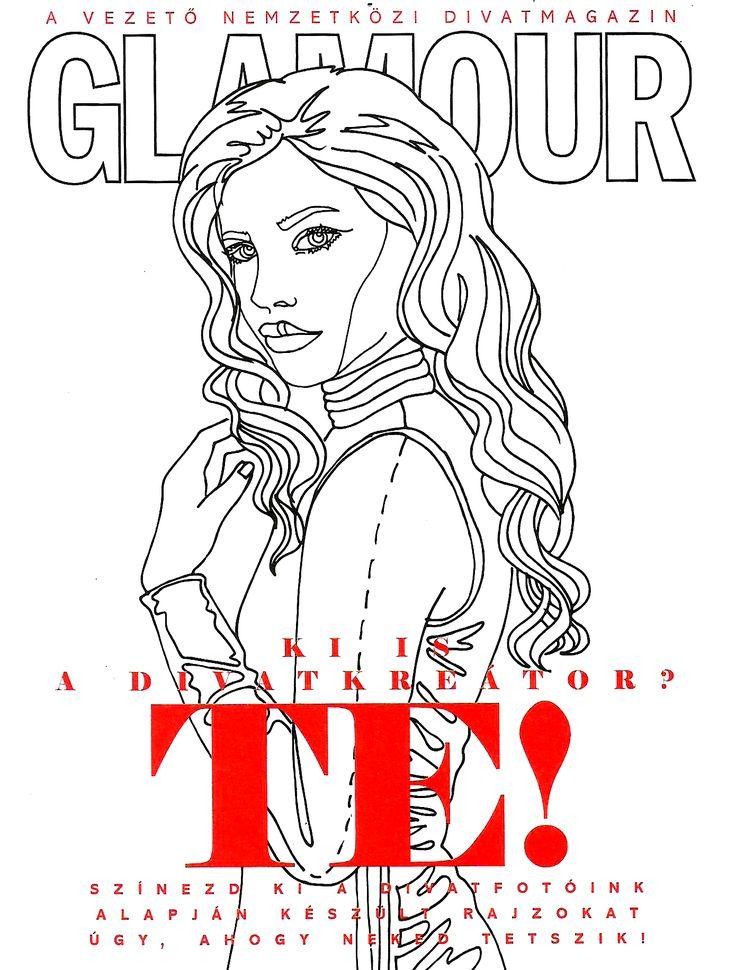 Coloringbook Hungarian Glamour Magazine