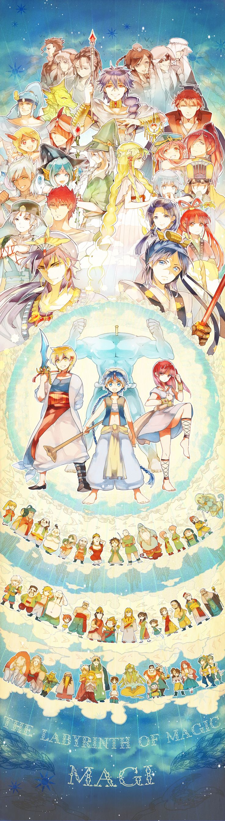 Magi: The Labyrinth of Magic... Wow this is really amazing, to not only incorporate all the major characters, but also so many of the lesser ones is really amazing.
