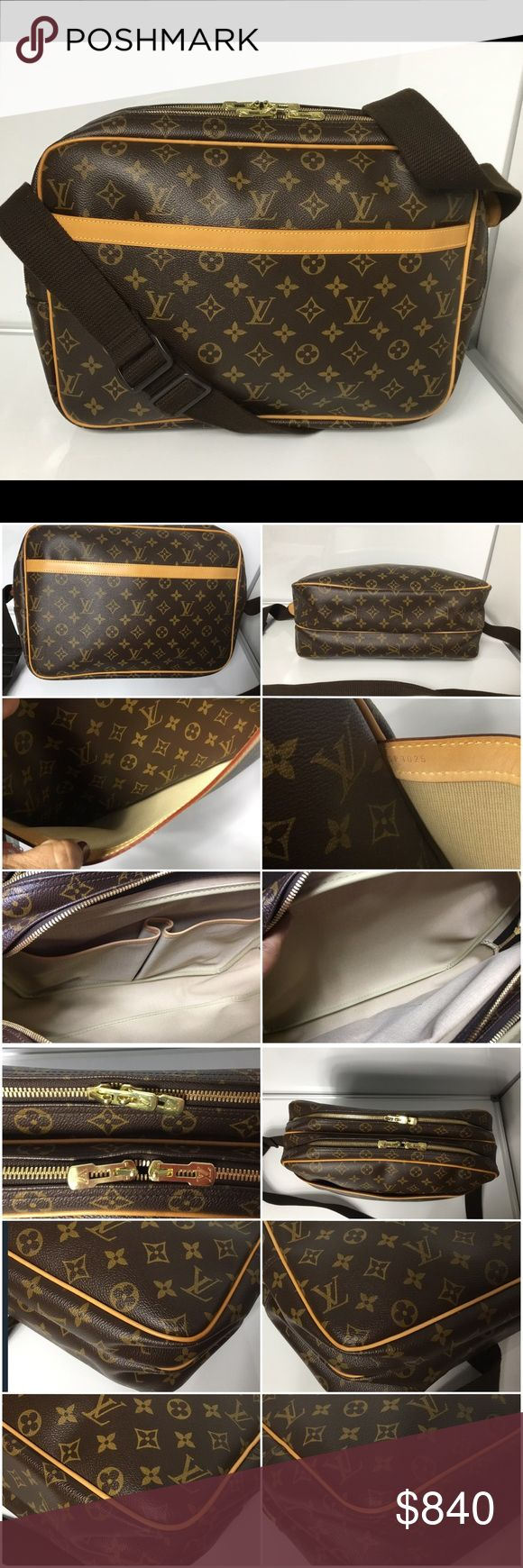 100% Authentic Louis Vuitton Monogram Reporter GM 100% Authentic Louis Vuitton Monogram Reporter GM with Dust Bag. Pre-Owned Bag in excellent Like new used condition. No rip, No tears, No stain on the canvas. Very clean inside. Strap has sign of used. Has initial stamped. MADE IN FRANCE DATE CODE SP1025 ( December 2005 )  Please check all the pictures. -In order to avoid unnecessary return. 100% authentic or your money back- no return sold as is- Louis Vuitton Bags Laptop Bags