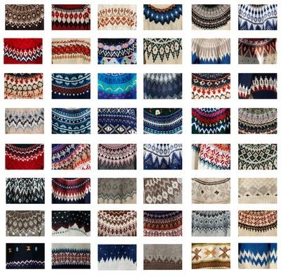 definitelydope:    'Fair isle ' Sweater pattern collection for my shop - Nowhere Tree t.cn/h55lHu (by Shu (Shuwei Liu ))