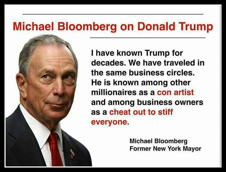 If you really want to know someone talk with those who have known them a long time both socially and professionally. Bloomberg should know.