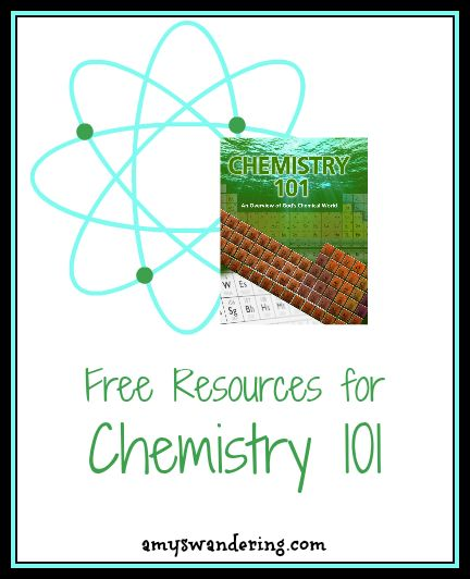 Free websites, worksheets, videos, books, and games to supplement the #Chemistry 101 DVDs