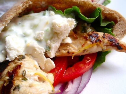 Grilled Chicken Souvlaki Gyros I love gyros and can't wait to try this ...