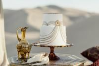 Deco oriental wedding table-basse-cake