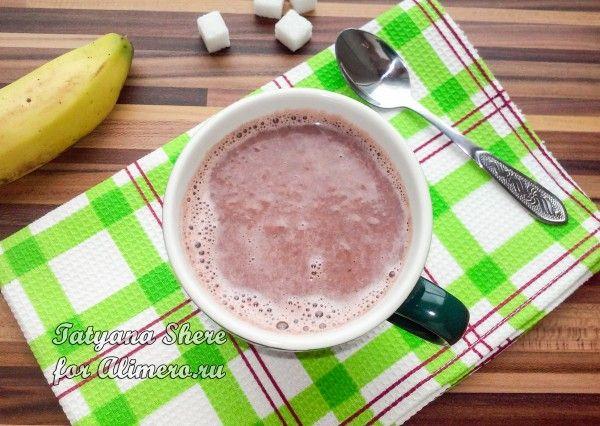Горячий шоколад с бананом / Рецепты с фото