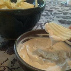 Kiwi Dip @ allrecipes.com.au - i use french onion dip when i have to. i also add some water and use lemon juice instead of vinegar.