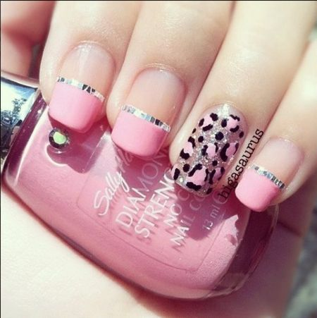 Baby Pink & Print Nails by Sally Hansen!  #prettypolish #nailart - bellashoot.com