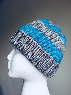 458df91a3dddc Ravelry  College Stripes Men s Knit Hat pattern by V. Noël ...