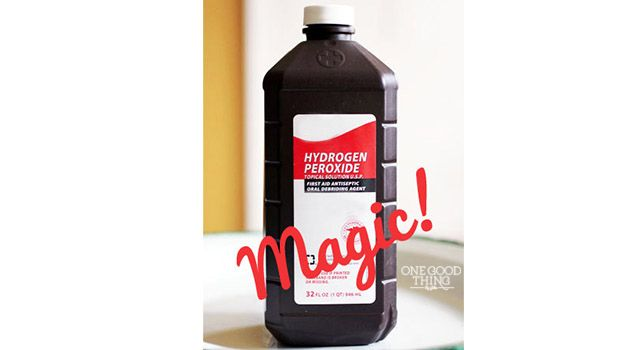hydrogen peroxide magic pet stains on carpet - 1 cup H2O2, 1 t baking soda, 1 drop dawn dishwashing liquid.  Apply to carpet at night, scrub slightly, place white towel over it for the night, remove in the morning.  Test carpet for color first. Many other uses too  There is general H2O2 and food quality.  For foods use the second kind.