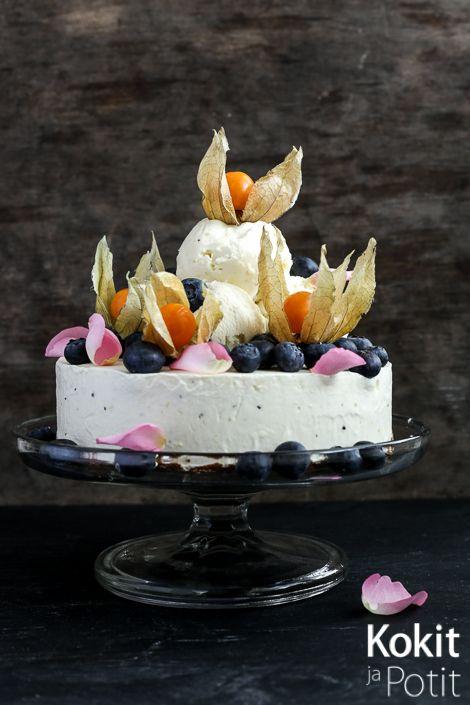 Trooppinen jäätelökakku – Cheesecake Ice Cream Cake #icecream #icecreamcake #jäätelö #jäätelökakku #recipe #resepti