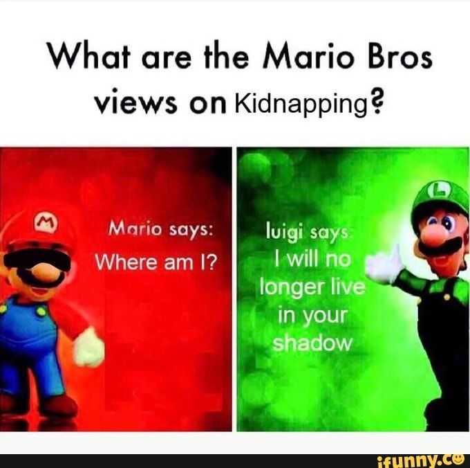 What Are The Mario Bros Views On Kidnapping Ifunny Funny