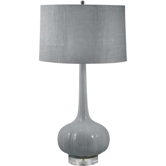 Del Mar Gray Ceramic Table Lamp by Candelabra Home.