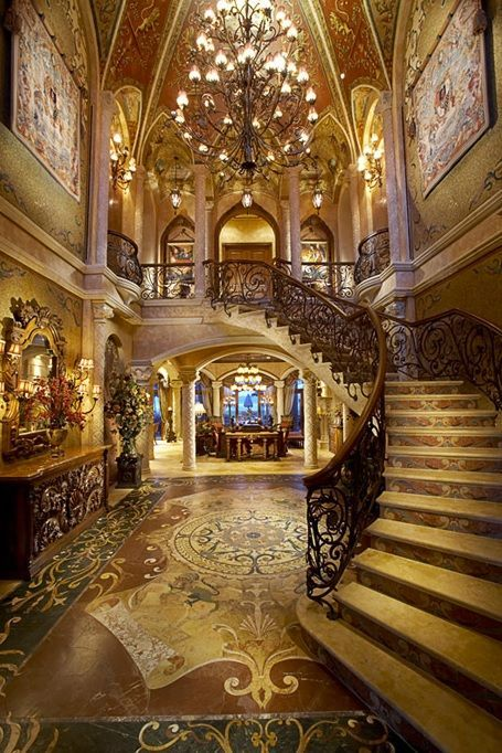 Luxury Foyers | Grand Foyer - Luxury Home | ♔LadyLuxury♔ #methodcandles and #firstimpressions