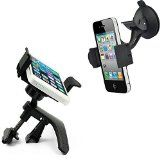 Mobile Phone Car Mount – Bonus Value **2-in-1** Father Day Gifts – for Air Vent & Windshield – Universal Smartphone Car Mount