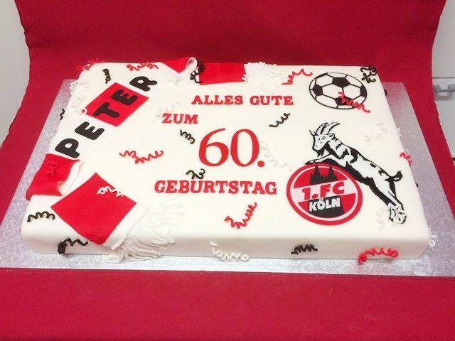 Cake Artist Koln : 1.FC Koln- Geburtstagstorte Football Cake ...