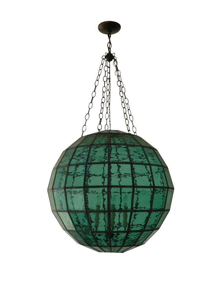 sea glass pendant light fixtures pendants