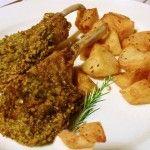 Ricette Siciliane - Secondi di carne - costolette-di-agnello-al-pistacchio-di-favara