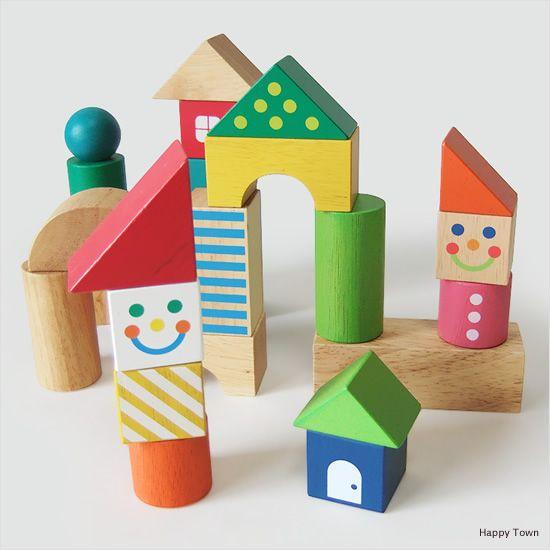 積み木 ブロックスコレクション ハッピータウン ¥2,200