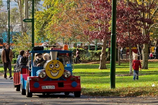 Train rides in Launceston City Park