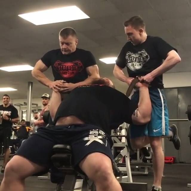 The BEAST that is Eddie Hall bench pressing two grown men!