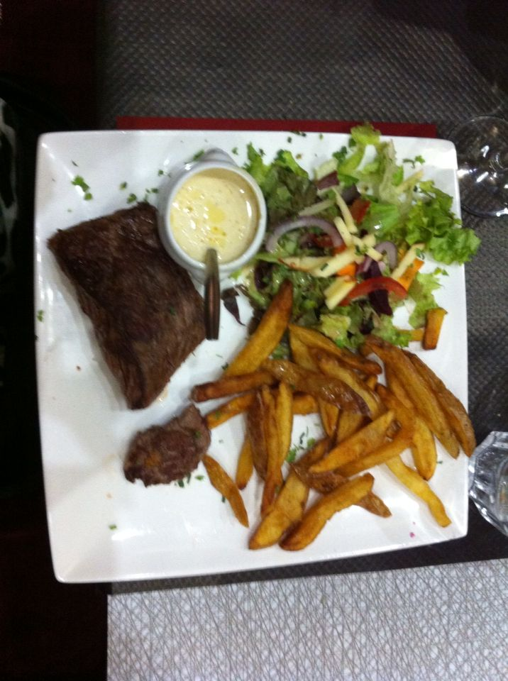 """Main course in that restaurant in France called """"les agapes"""", summer 2013 :)"""