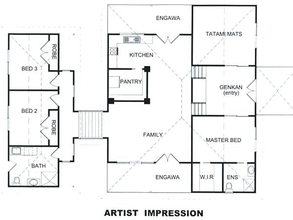 Japanese House Floor Plans Traditional House Plans House Plans Cool 6 Traditional House Floor Plan Traditional Japanese House Japanese House Unique House Plans
