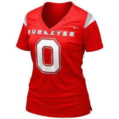 Nike Ohio State Buckeyes Ladies Replica Football Premium T-shirt - Scarlet