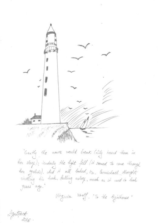 Buy To the lighthouse, Pencil drawing by Caroline Andreea Zgortea on Artfinder. Discover thousands of other original paintings, prints, sculptures and photography from independent artists.