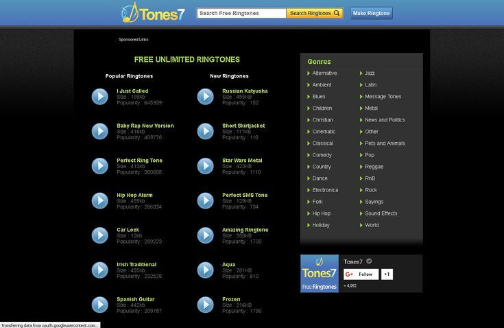 The Best Websites for Downloading Free Ringtones for Your Phone: Tones7