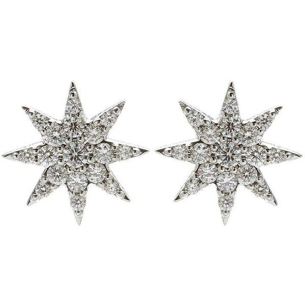 Bee Goddess Diamond Ishtar Star Stud Earring (10,900 CNY) ❤ liked on Polyvore featuring jewelry, earrings, diamond jewelry, bee goddess, diamond star earrings, 18k jewelry and diamond jewellery