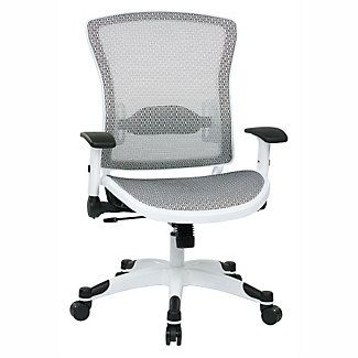 White Frame Mesh Ergonomic Computer Chair