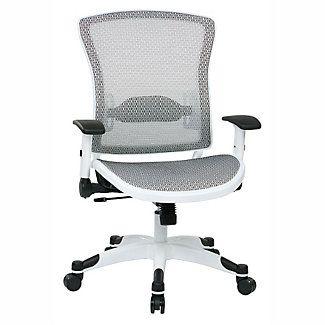 White Frame Mesh Ergonomic Computer Chair