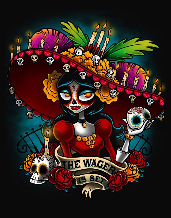 La Muerte Book of Life PRINT 11X14 by Bamboota by bamboota on Etsy