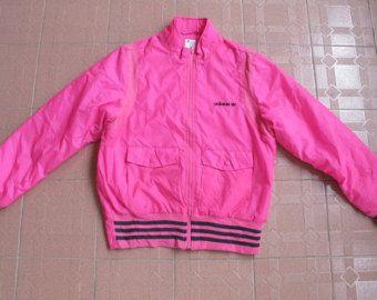 ADIDAS rosa mujer invierno chaqueta rompevientos suéter tamaño OT Nylon poliester Japón raro no levis lee de reebok de nike north face parka puma