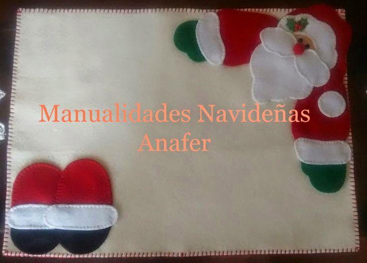 Manualidades Navideñas Anafer: Individuales Navideños
