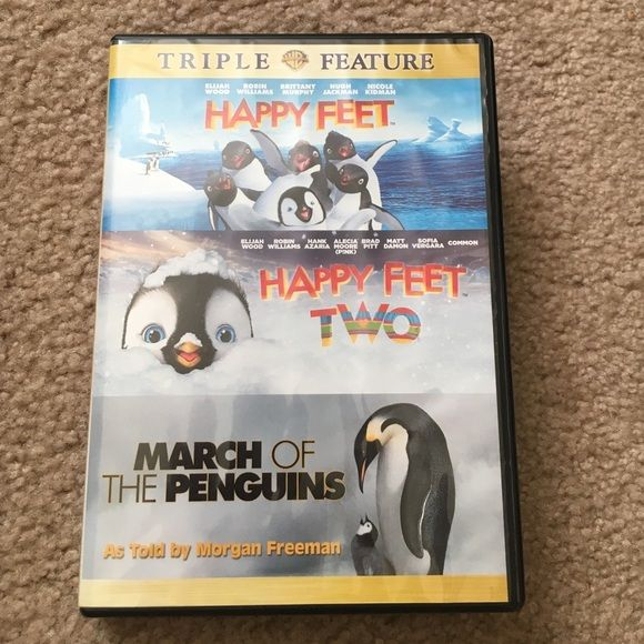 Happy Feet, Happy Feet Two & March of the Penguins These DVDs are in excellent working condition there is nothing wrong with them we just no longer have a need for them. Tired of them hanging around the house taking up space. Other